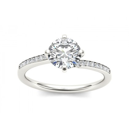JENIFER DIAMOND SOLITAIRE RING in Cubic Zirconia & 18K Gold