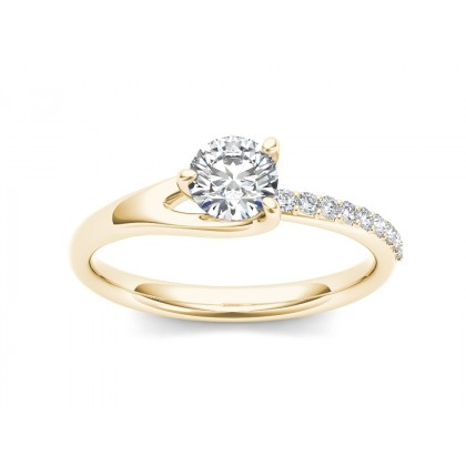 CHERISE DIAMOND SOLITAIRE RING in Cubic Zirconia & 18K Gold
