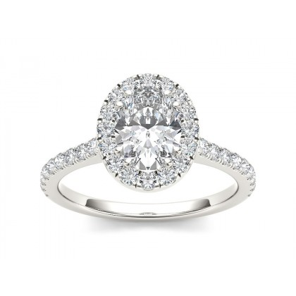 CINDI DIAMOND SOLITAIRE RING in Cubic Zirconia & 18K Gold