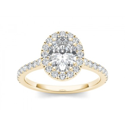 LUVENIA DIAMOND SOLITAIRE RING in Cubic Zirconia & 18K Gold