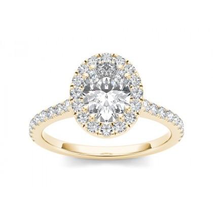 LUVENIA DIAMOND SOLITAIRE RING in Cubic Zirconia & 18K Gold