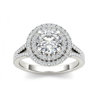 MARGY DIAMOND SOLITAIRE RING in Cubic Zirconia & 18K Gold