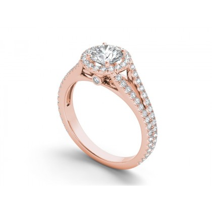 ETHELENE DIAMOND SOLITAIRE RING in Cubic Zirconia & 18K Gold