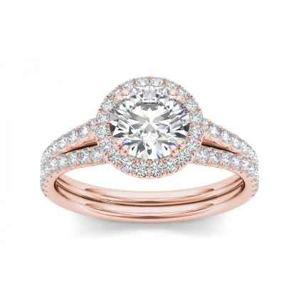 LAWANA DIAMOND SOLITAIRE RING in Cubic Zirconia & 18K Gold