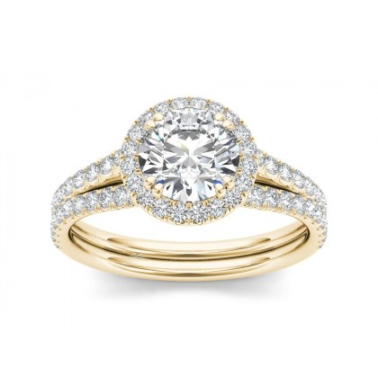 ETSUKO DIAMOND SOLITAIRE RING in Cubic Zirconia & 18K Gold