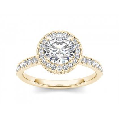 SILVIA DIAMOND SOLITAIRE RING in Cubic Zirconia & 18K Gold