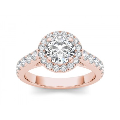 GRISEL DIAMOND SOLITAIRE RING in Cubic Zirconia & 18K Gold