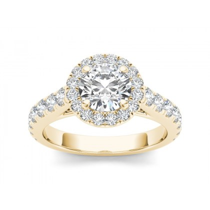 FRANCINA DIAMOND SOLITAIRE RING in Cubic Zirconia & 18K Gold