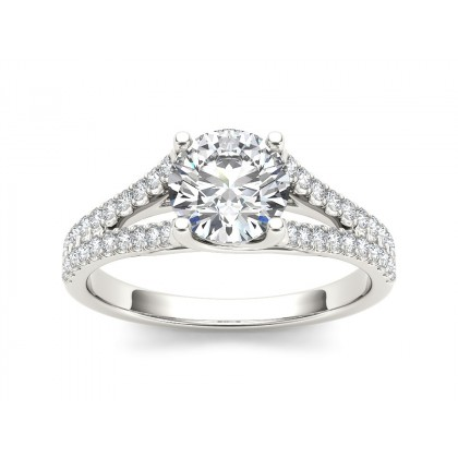 RACHELL DIAMOND SOLITAIRE RING in Cubic Zirconia & 18K Gold
