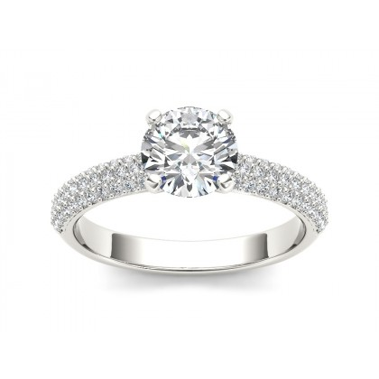 RAINA DIAMOND SOLITAIRE RING in Cubic Zirconia & 18K Gold