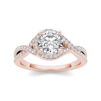 PATRICE DIAMOND SOLITAIRE RING in Cubic Zirconia & 18K Gold