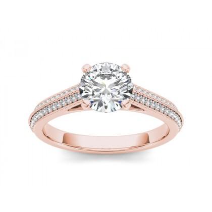 MARA DIAMOND SOLITAIRE RING in Cubic Zirconia & 18K Gold