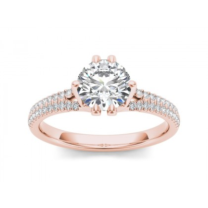CHARLA DIAMOND SOLITAIRE RING in Cubic Zirconia & 18K Gold