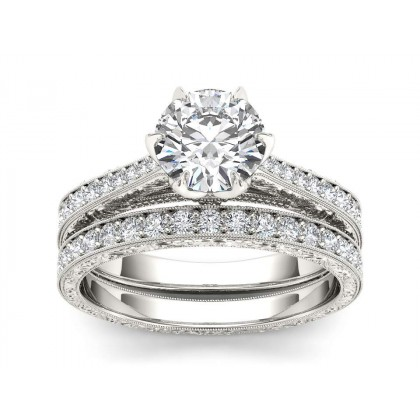 MELINDA DIAMOND SOLITAIRE RING in Cubic Zirconia & 18K Gold