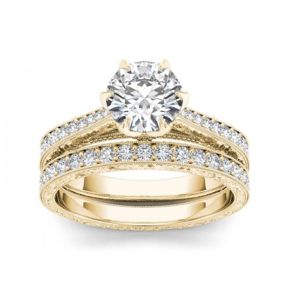 ARLINE DIAMOND SOLITAIRE RING in Cubic Zirconia & 18K Gold