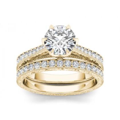 ARLINE DIAMOND SOLITAIRE RING in Cubic Zirconia & 18K Gold