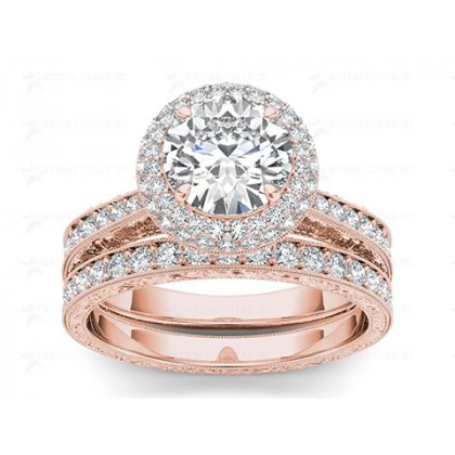 NEELY DIAMOND SOLITAIRE RING in Cubic Zirconia & 18K Gold