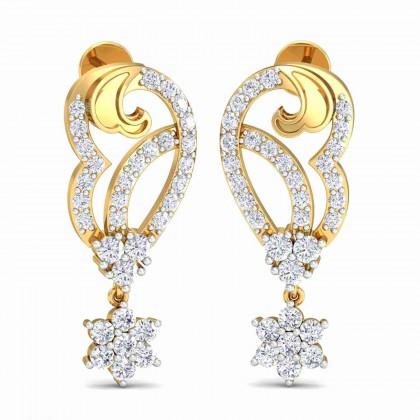 TABETHA DIAMOND DROPS EARRINGS in 18K Gold