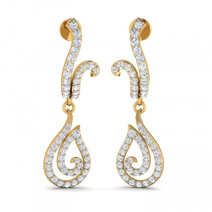 CHERISE DIAMOND DROPS EARRINGS in 18K Gold