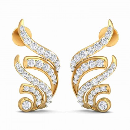 LONA DIAMOND STUDS EARRINGS in 18K Gold