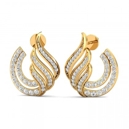 EDA DIAMOND STUDS EARRINGS in 18K Gold