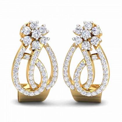 MERLYN DIAMOND STUDS EARRINGS in 18K Gold