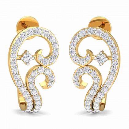 JANETTA DIAMOND STUDS EARRINGS in 18K Gold
