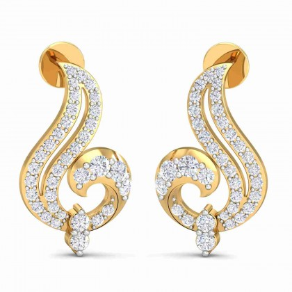 MAGDALENA DIAMOND STUDS EARRINGS in 18K Gold