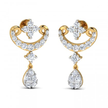 SEASON DIAMOND DROPS EARRINGS in 18K Gold