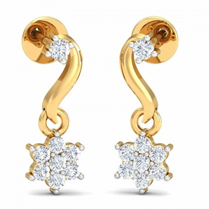 JUSTA DIAMOND DROPS EARRINGS in 18K Gold