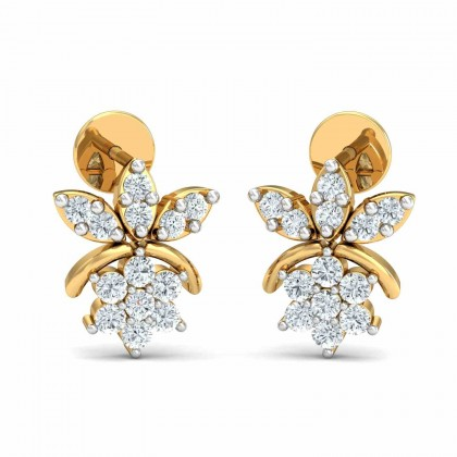 MELISSIA DIAMOND STUDS EARRINGS in 18K Gold