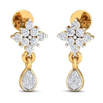 NITA DIAMOND DROPS EARRINGS in 18K Gold