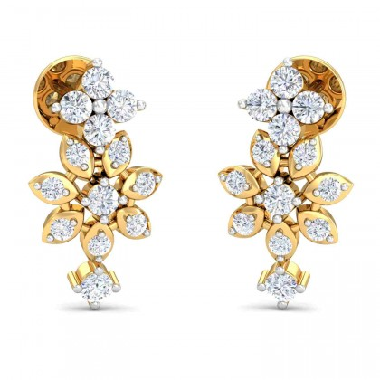 LIDA DIAMOND DROPS EARRINGS in 18K Gold