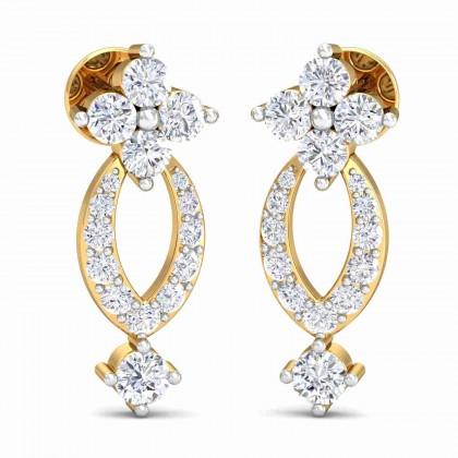 CRISTIE DIAMOND DROPS EARRINGS in 18K Gold