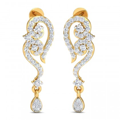 LIA DIAMOND DROPS EARRINGS in 18K Gold