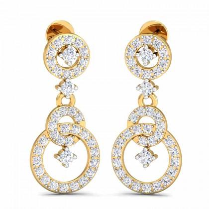 ARICA DIAMOND DROPS EARRINGS in 18K Gold