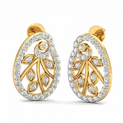 STACIE DIAMOND STUDS EARRINGS in 18K Gold