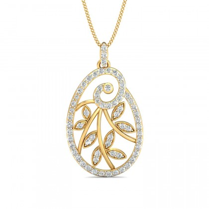ADELIA DIAMOND FLORAL PENDANT in 18K Gold