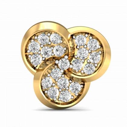 NEVA DIAMOND STUDS EARRINGS in 18K Gold