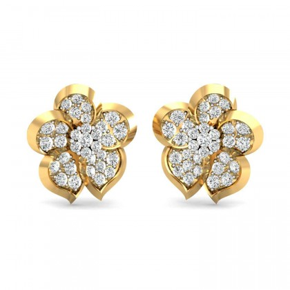 KATHARINE DIAMOND STUDS EARRINGS in 18K Gold