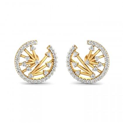 GIDGET DIAMOND STUDS EARRINGS in 18K Gold