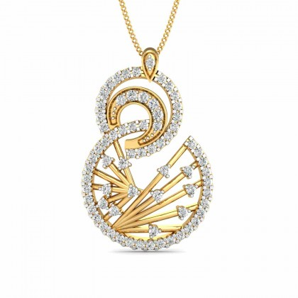 PAMELLA DIAMOND FASHION PENDANT in 18K Gold