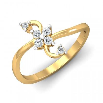 ESTELA DIAMOND CASUAL RING in 18K Gold