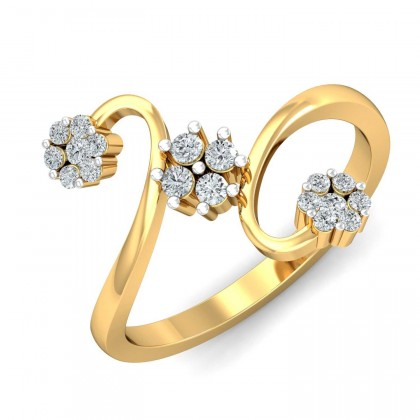 FAWN DIAMOND CASUAL RING in 18K Gold