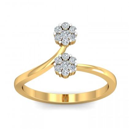 GENNY DIAMOND CASUAL RING in 18K Gold