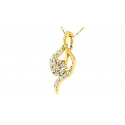 KIMBERELY DIAMOND FLORAL PENDANT in 18K Gold