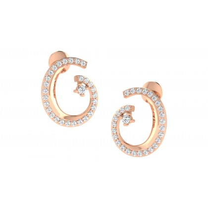 YING DIAMOND STUDS EARRINGS in 18K Gold