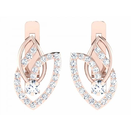 LISSETTE DIAMOND HOOPS EARRINGS in 18K Gold