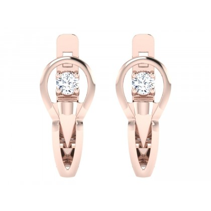 ANTONETTA DIAMOND HOOPS EARRINGS in 18K Gold