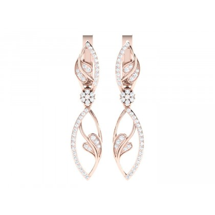 MITSUKO DIAMOND HOOPS EARRINGS in 18K Gold